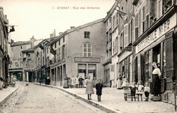 Stenay (Meuse) La rue des Orfèvres CPA