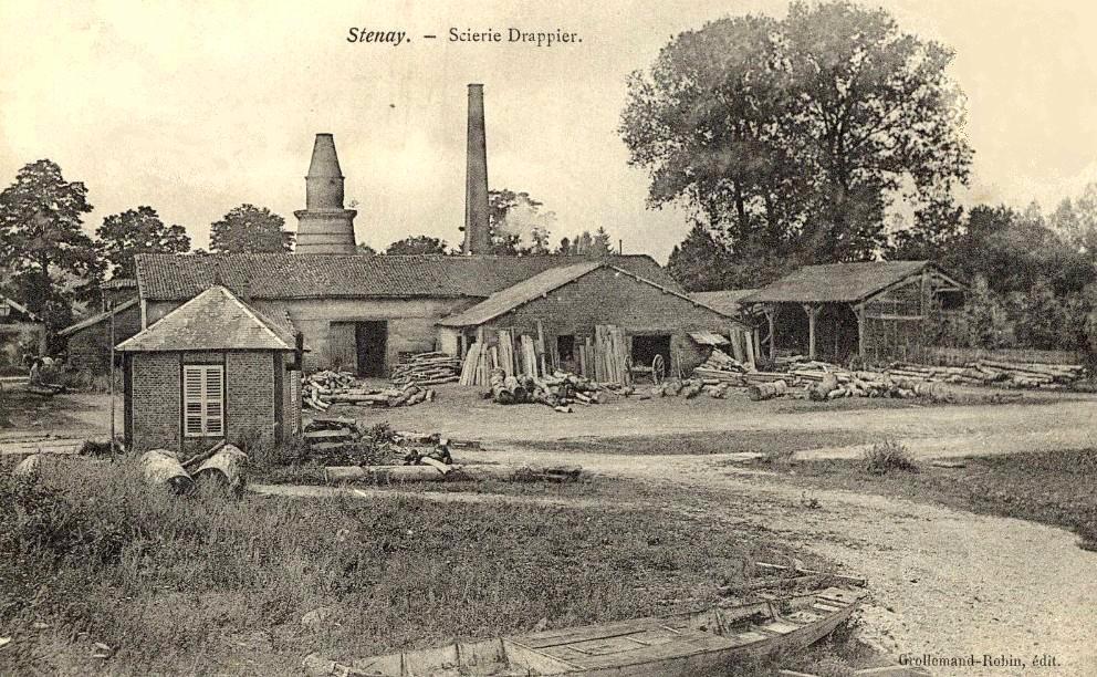 Stenay (Meuse) La scierie CPA