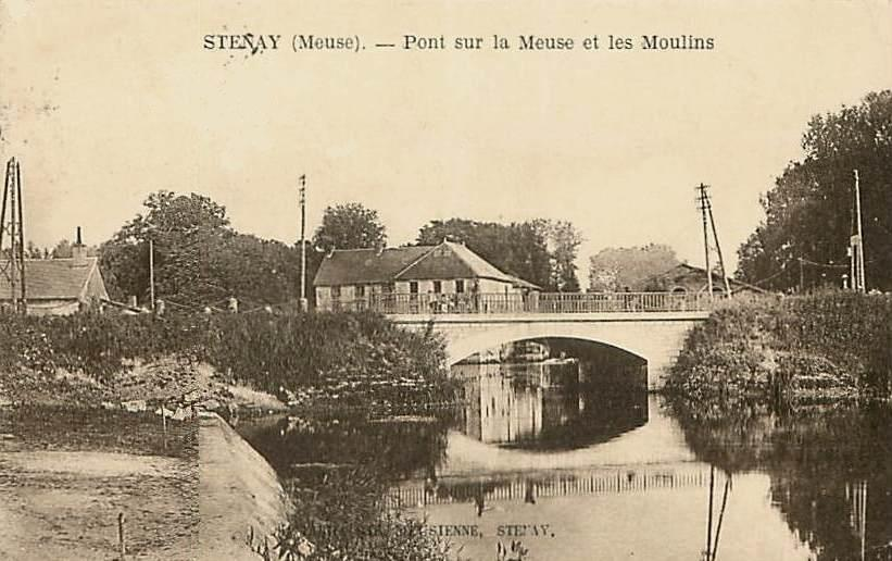 Stenay (Meuse) Le pont CPA