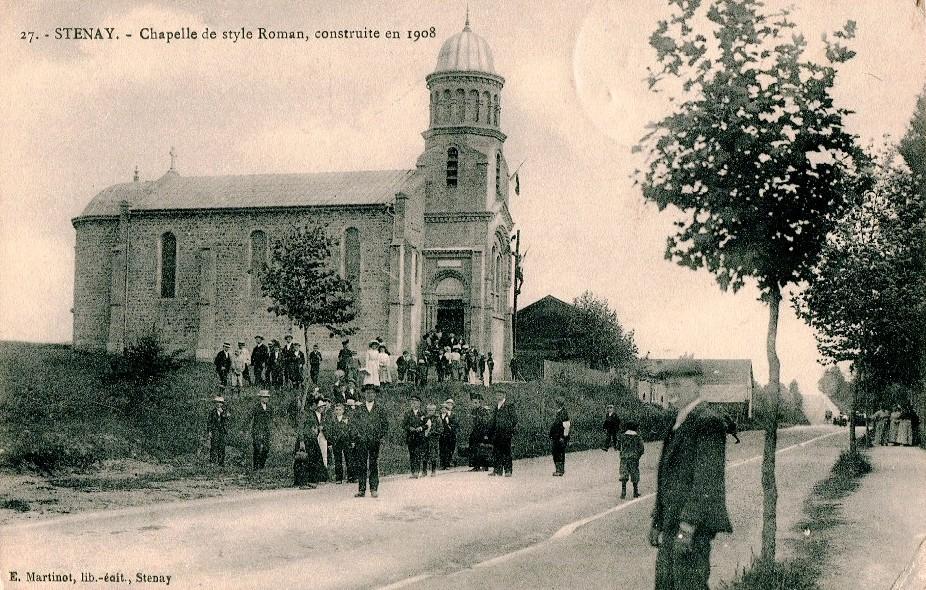 Stenay (Meuse) L'église du Sacré-Coeur 1906 CPA