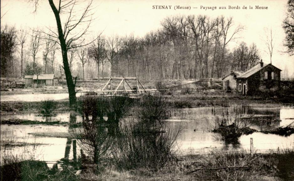 Stenay (Meuse) Les bords de Meuse CPA