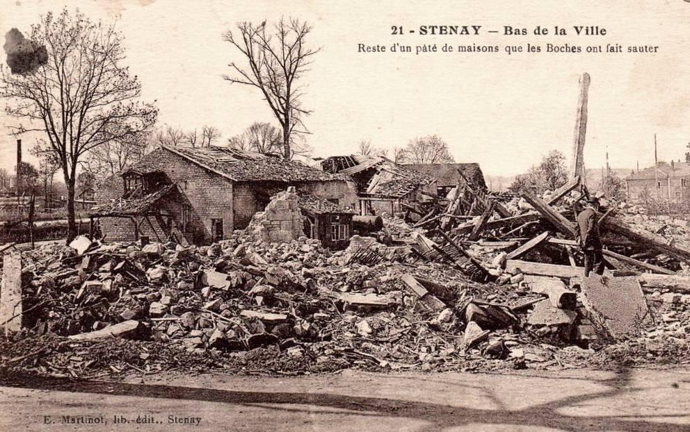 Stenay (Meuse) Pendant la guerre CPA