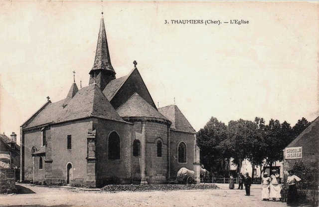Thaumiers (18) L'église CPA