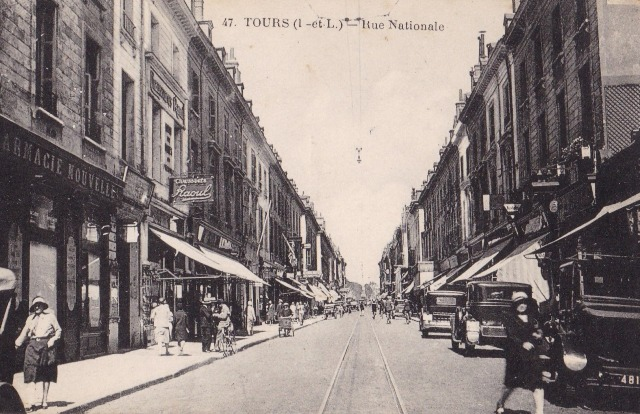 Tours (37) Rue Nationale CPA