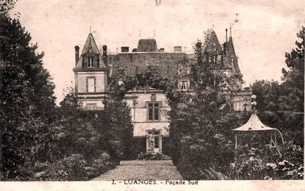 Urzy (Nièvre) Le château de Luanges CPA