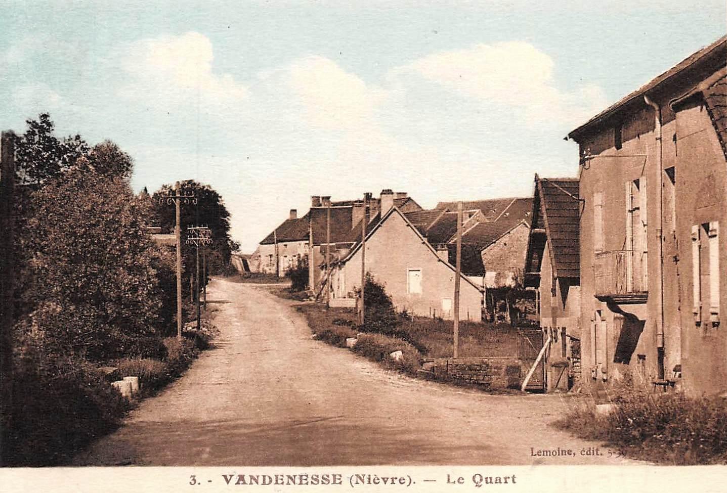 Vandenesse (Nièvre) Le Quart CPA