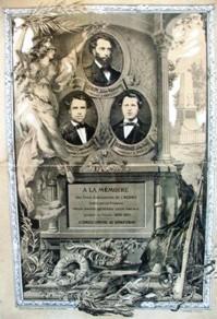Vendières (Aisne) Stèle à la mémoire des  instituteurs