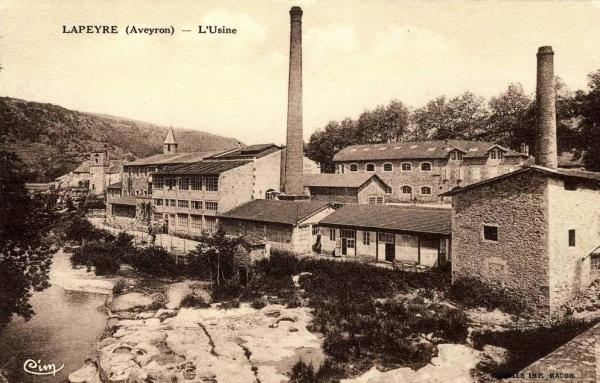 Versols-et-Lapeyre (Aveyron) CPA Lapeyre, l'usine