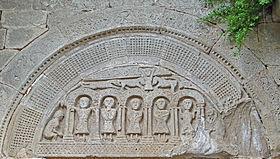 Versols-et-Lapeyre (Aveyron) Le tympan de l'église Saint Roch