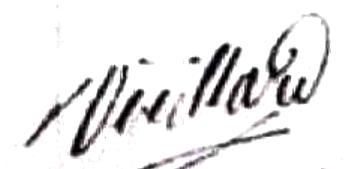 Vieillard Louis Appolonie (1834/1894), sa signature en 1861