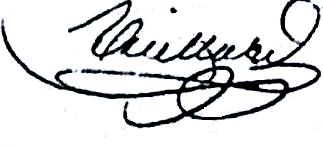 Vieillard Louis Parfait (1804/1839), sa signature en 1834