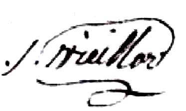 Vieillard Michel Archange (1766/1839), sa signature en 1830
