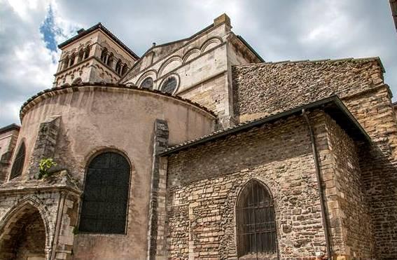 Vienne (Isère) L'abbaye Saint-André-le-Bas