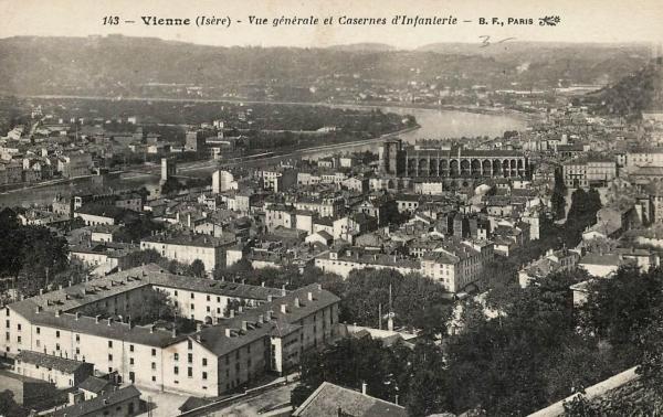 Vienne (Isère) Vue générale CPA