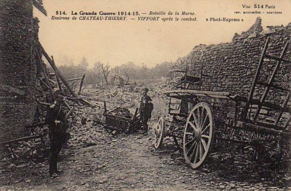 Viffort (Aisne) CPA ruines 14-18