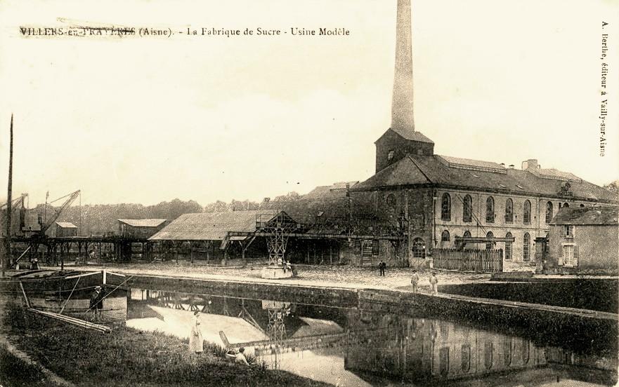 Villers-en-Prayères (Aisne) CPA l'usine de sucre