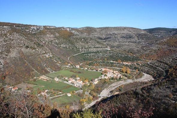 Vissec (Gard) Vue générale