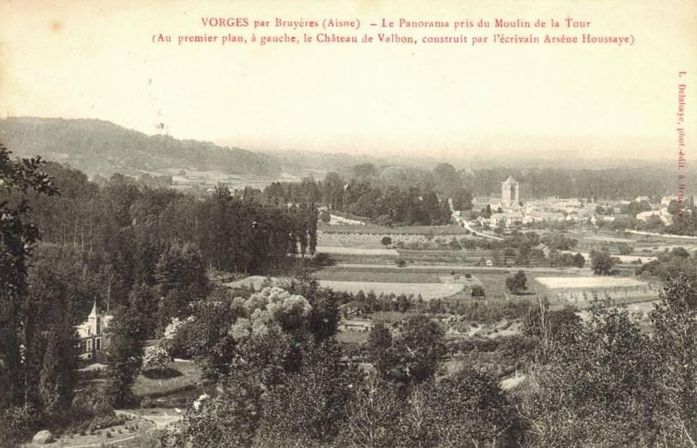 Vorges (Aisne) CPA Vue sur le château de Valbon