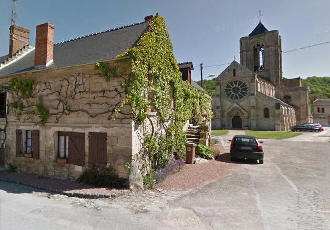 Vorges (Aisne) Ruelle Chaudron et église
