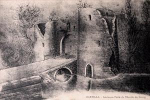 1 gravure ancienne porte entree bourg