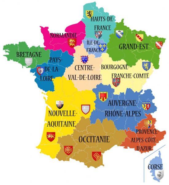 13 nouvelles regions en 2016