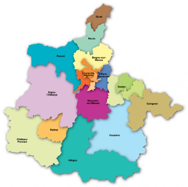 Ardennes carte et cantons