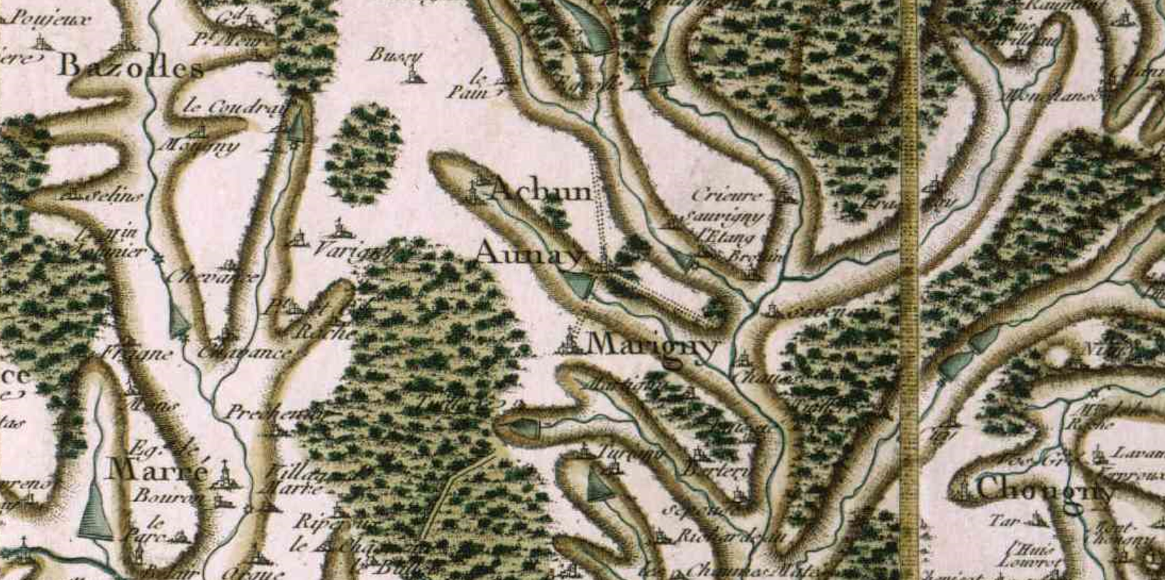 Aunay en bazois cassini