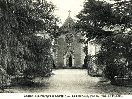 Avrille maine et loire la chapelle du champ des martyrs cpa