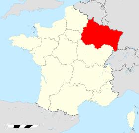 Carte france region grand est