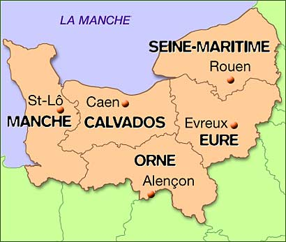 Carte normandie 2016