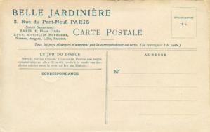 Carte postale ancienne le jeu du diable la belle jardiniere verso 582x365