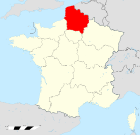 Carte situation hauts de france en france