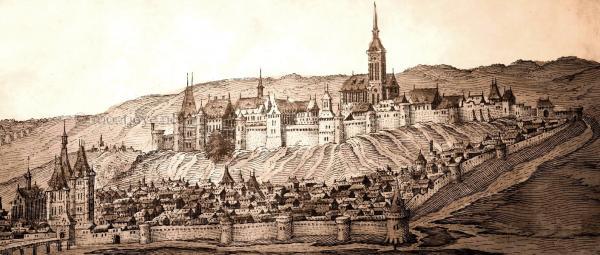 Chateau thierry aisne le chateau gravure vers 1600