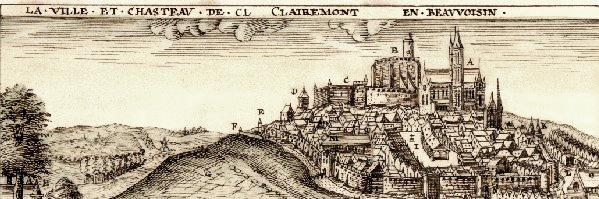 Clermont oise gravure au moyen age