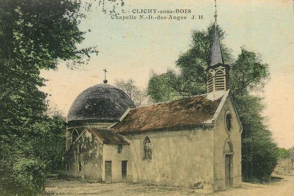 Clichy sous bois seine saint denis la chapelle n d des anges cpa