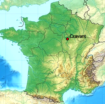 Cravant 89 map