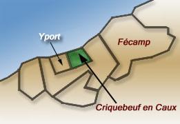 Criquebeuf en caux seine maritime carte