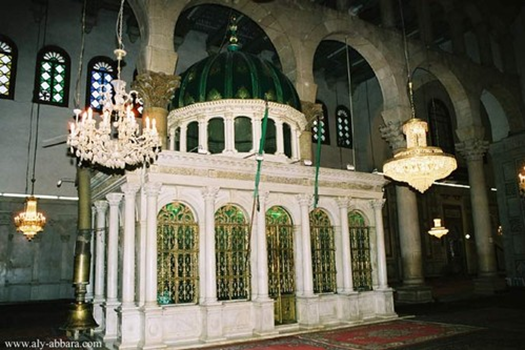 Damas syrie la grande mosquee des omeyyades reliquaire