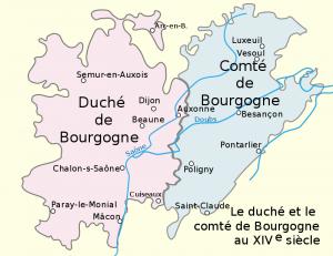 Duche et comte de bourgogne