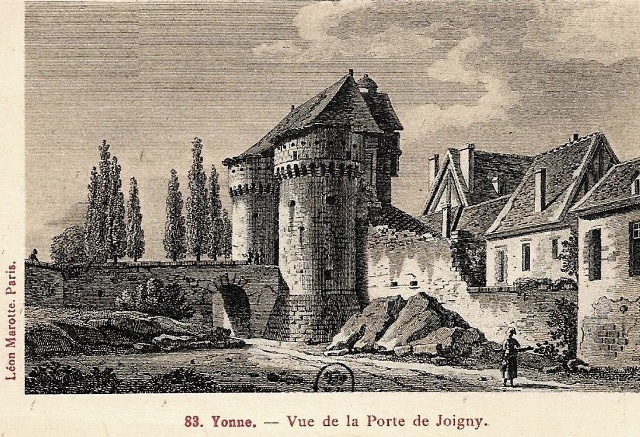 Joigny 89 le chateau gravure cpa