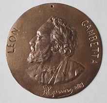 Leon gambetta medaillon d alfred gauvin