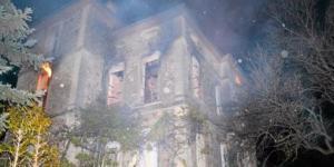 Lodeve herault le chateau de laiglon incendie