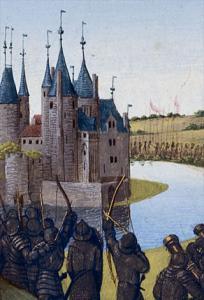 Melun seine et marne le chateau de melun gravure