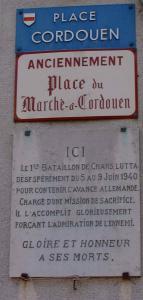 Noyon oise 1939 1945 plaque place cordouen