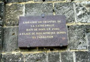 Noyon oise ancienne bibliotheque plaque
