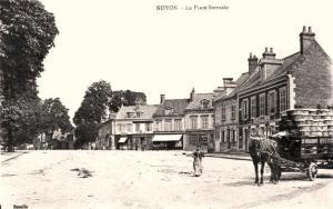 Noyon oise cpa place sarrazin n 2 maison de francois jb gransard en 1891