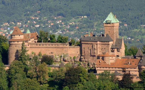 Orschwiller bas rhin le chateau du haut koenisgsbourg