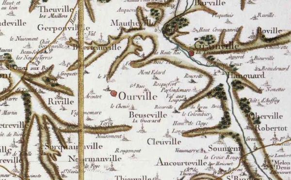 Ourville en caux seine maritime carte cassini