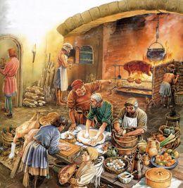 Preparation d un souper du moyen age