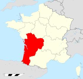Region nouvelle aquitaine en france